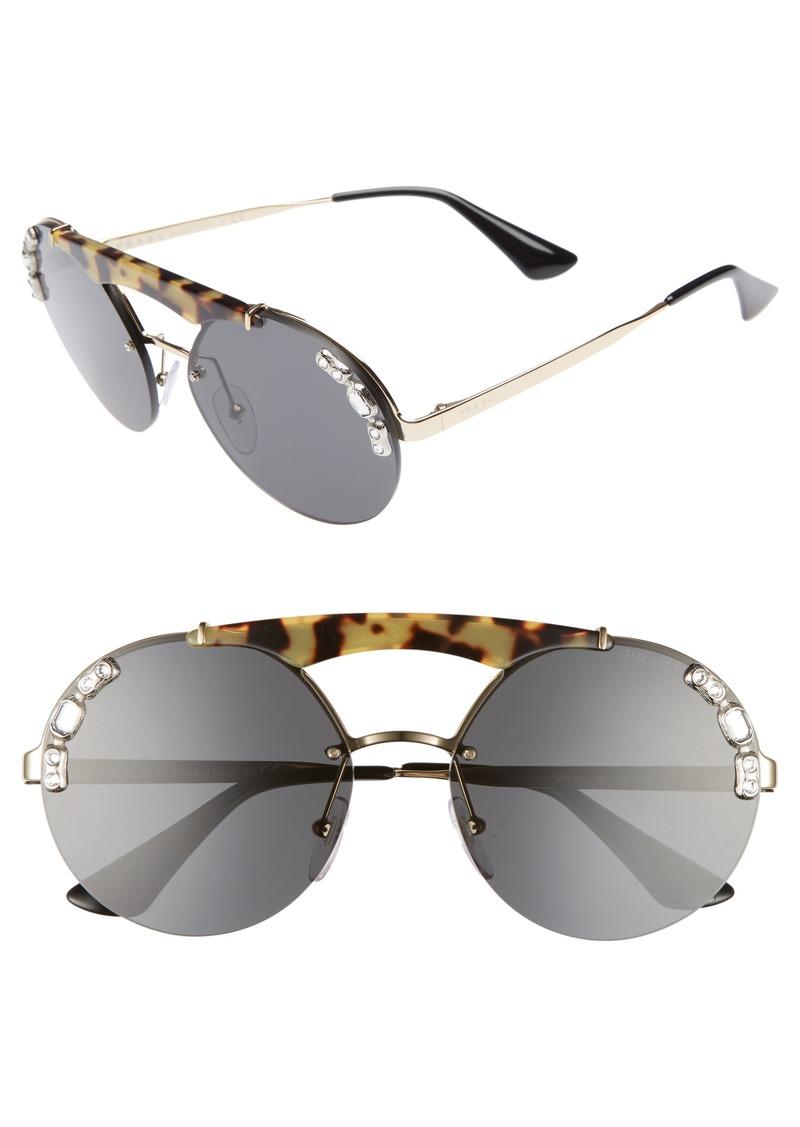2a7c9d441e96 Prada Prada 52mm Embellished Round Rimless Sunglasses