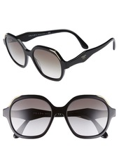 Prada 52mm Geometric Gradient Sunglasses
