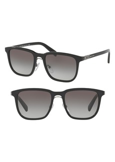 Prada 52mm Gradient Square Sunglasses