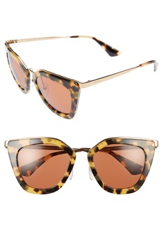 Prada 52mm Layered Frame Sunglasses