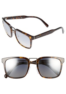 Prada 52mm Mirrored Sunglasses