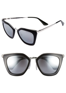Prada 52mm Polarized Cat Eye Sunglasses