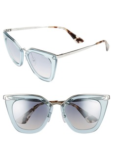 Prada 52mm Retro Sunglasses