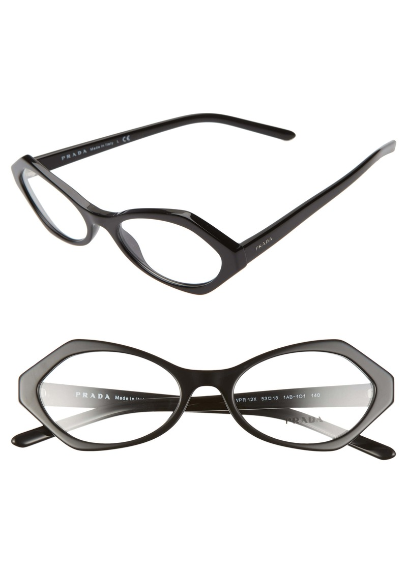 Prada 53mm Butterfly Optical Glasses