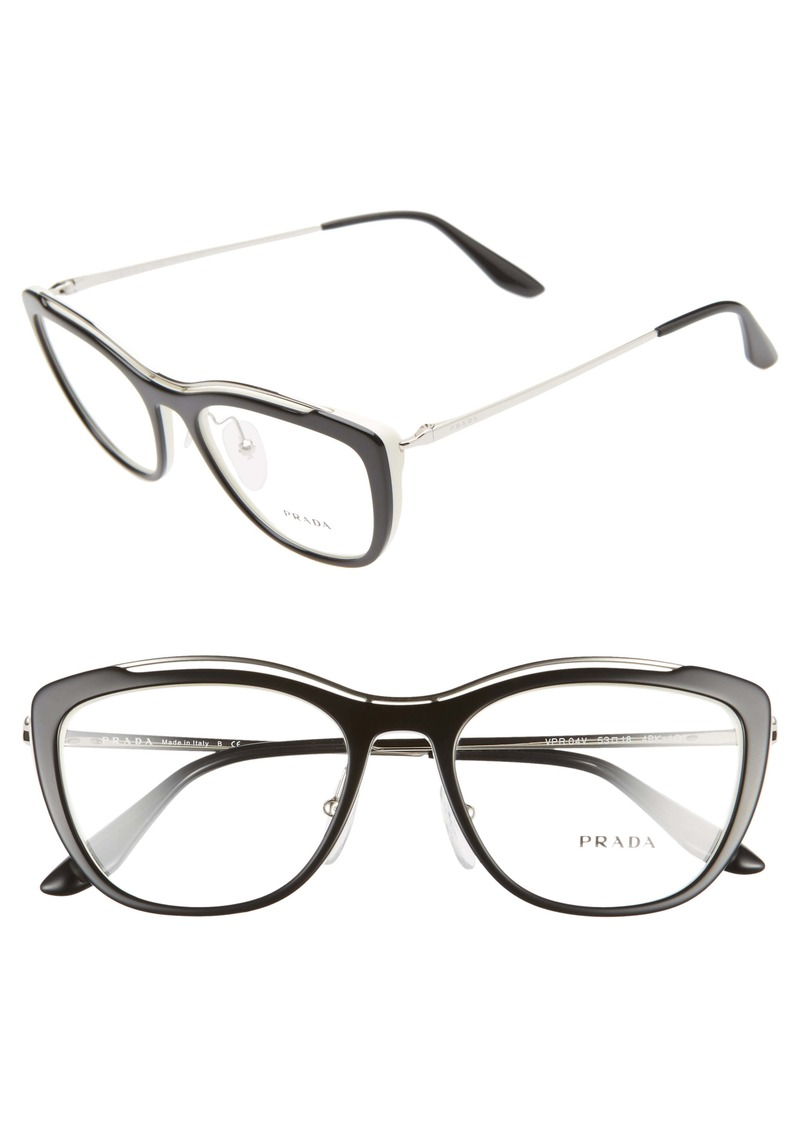 Prada 53mm Cat Eye Optical Glasses