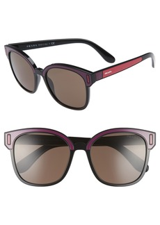 Prada 53mm Colorblock Square Sunglasses