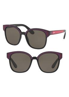 Prada 53mm Colorblock Square Sunglasses
