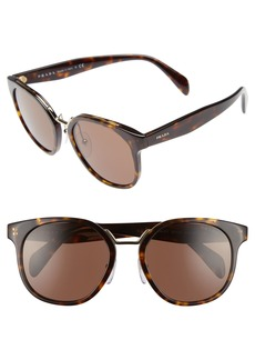Prada 53mm Horn-Rimmed Sunglasses