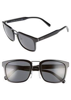 Prada 53mm Rectangle Sunglasses