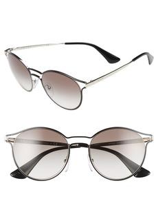 Prada 53mm Rectangular Cat Eye Sunglasses