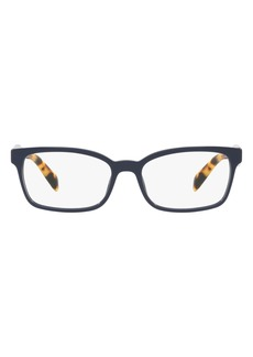 Prada 53mm Rectangular Optical Glasses