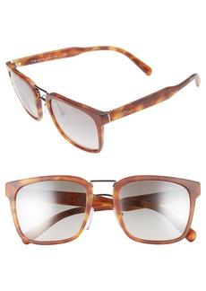 Prada 53mm Rectangular Sunglasses