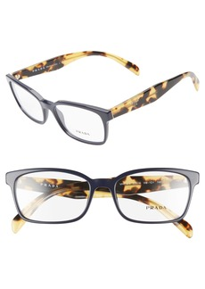 Prada 53mm Square Optical Glasses