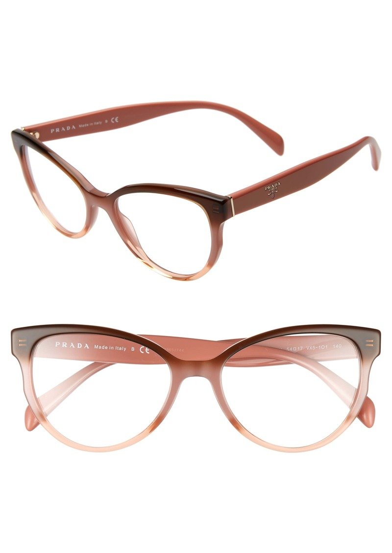 Prada 54mm Cat Eye Optical Glasses