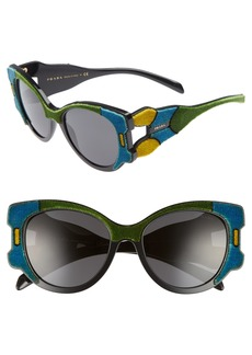 Prada 54mm Colorblock Round Sunglasses