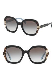 Prada 54MM Contrast Rounded Square Sunglasses