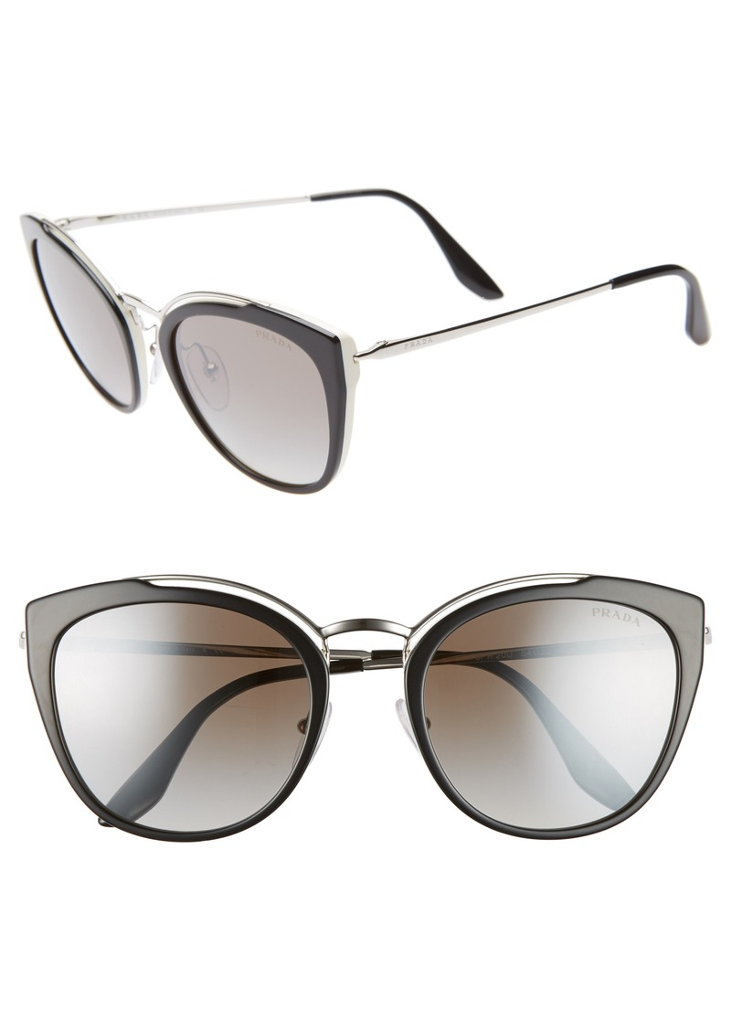 Prada 54mm Gradient Cat Eye Sunglasses