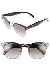 Prada 54mm Gradient Round Sunglasses