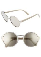Prada 54mm Mirrored Round Sunglasses