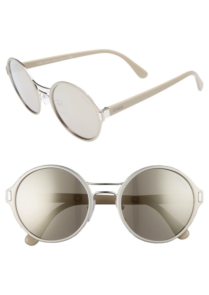 0f9ee4942a Prada Prada 54mm Mirrored Round Sunglasses