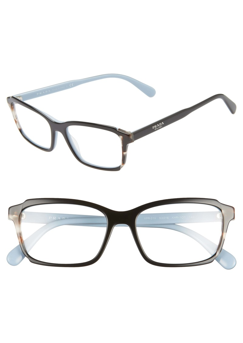 Prada 54mm Rectangle Optical Glasses