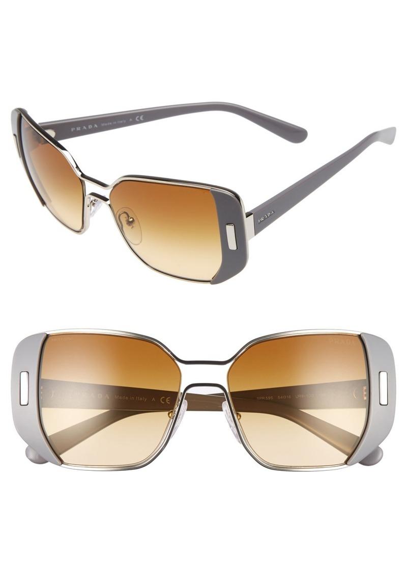 Prada 54mm Rectangular Partial Frame Sunglasses