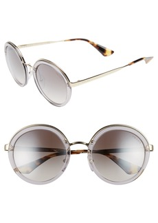 Prada 54mm Round Gradient Sunglasses
