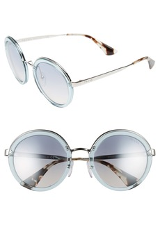 Prada 54mm Round Sunglasses