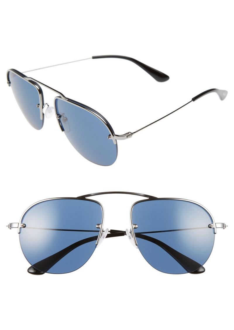 Prada 55mm Aviator Sunglasses