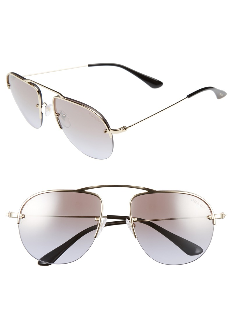 Prada 55mm Aviator Sunglasses