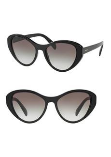 Prada 55MM Butterfly Sunglasses