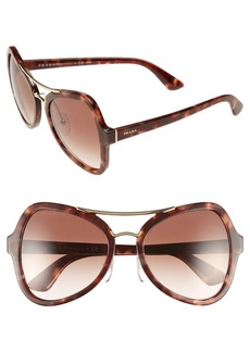 Prada 55mm Butterfly Sunglasses