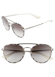 Prada 55mm Gradient Aviator Sunglasses