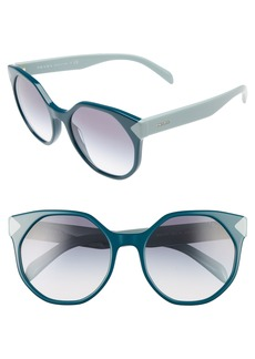 Prada 55mm Gradient Geometric Sunglasses