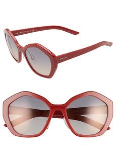Prada 55mm Gradient Sunglasses