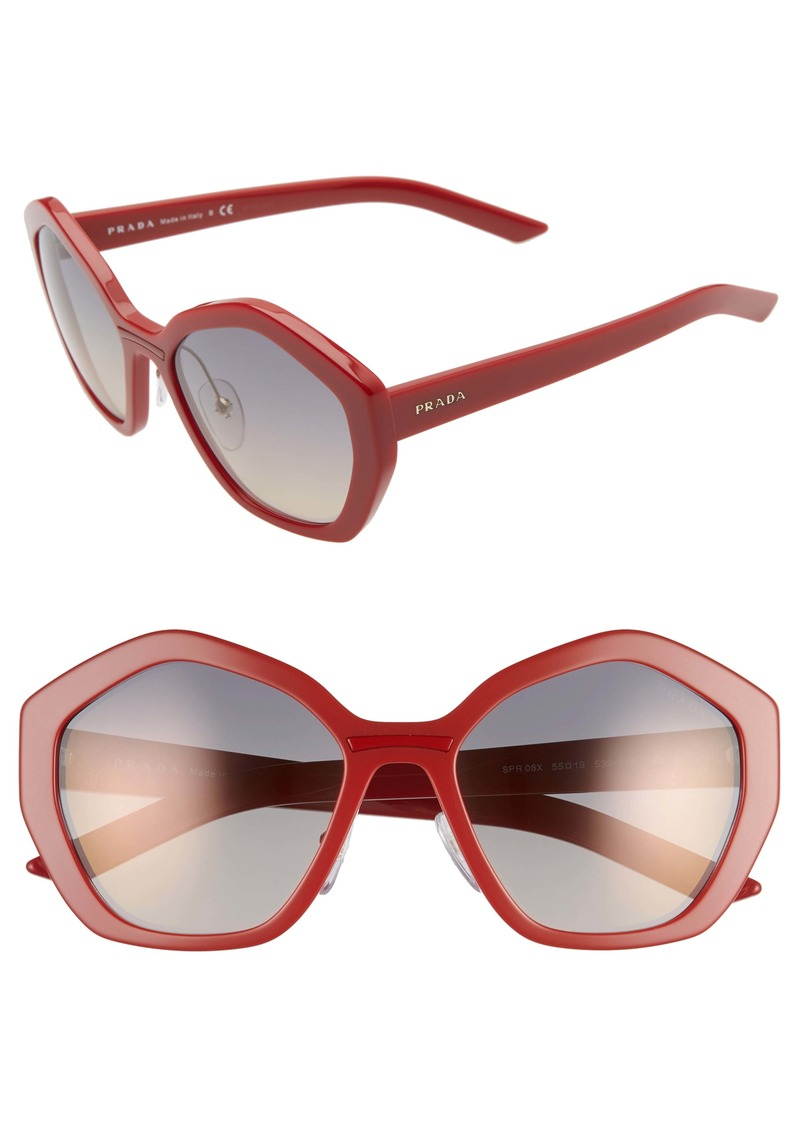 Prada 55mm Gradient Sunglasses