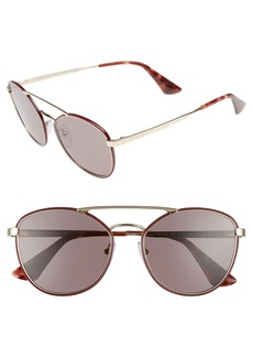 Prada 55mm Metal Aviator Sunglasses