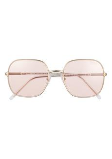 Prada 55mm Photochromic Polarized Round Sunglasses