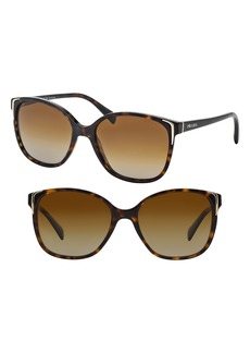 Prada 55mm Polarized Cat Eye Sunglasses