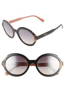 Prada 55mm Polarized Oval Sunglasses