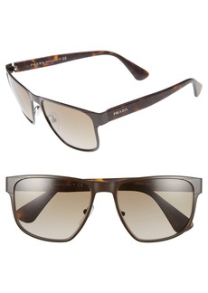 Prada 55mm Polarized Sunglasses