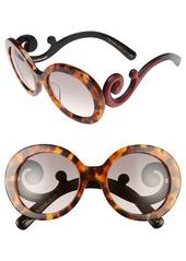 Prada 55mm Round Special Fit Sunglasses