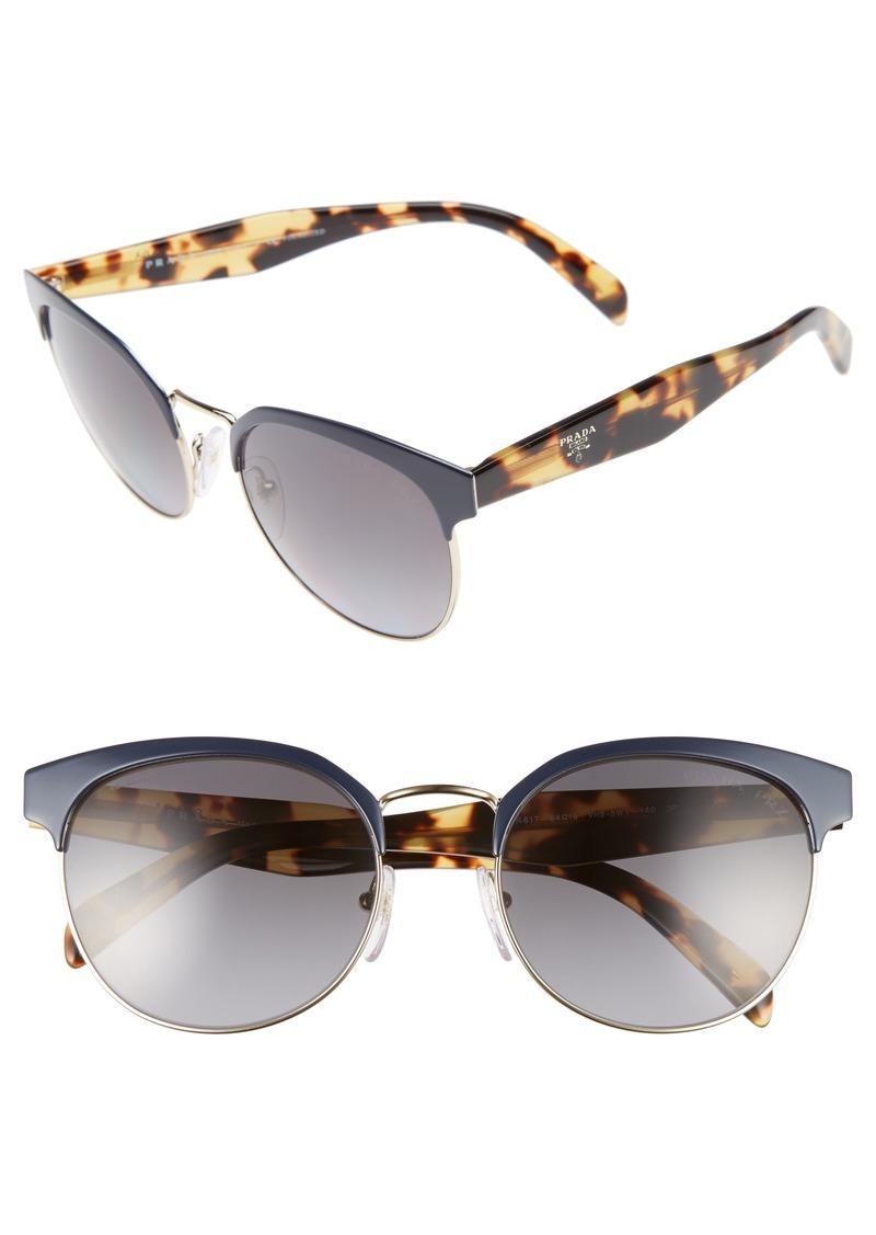52aa5dd296 Prada Prada 55mm Semi Rimless Sunglasses