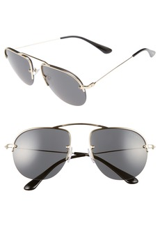 Prada 55mm Semi Rimless Sunglasses