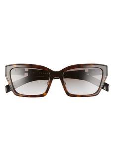 Prada 56mm Gradient Cat Eye Sunglasses