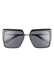 Prada 56mm Polarized Square Sunglasses