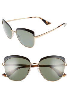 Prada 56mm Polarized Sunglasses