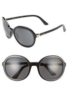 Prada 56mm Round Sunglasses
