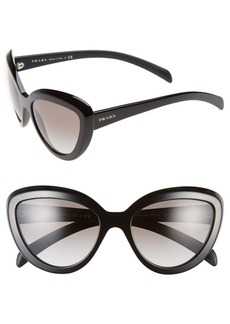 Prada 57mm Cat Eye Sunglasses