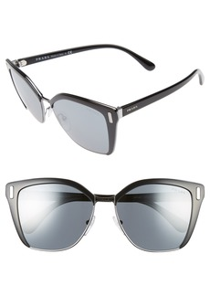 Prada 57mm Mirrored Geometric Sunglasses